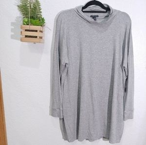 EILEEN FISHER Funnel Neck Knit Tunic Size L